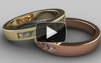 RhinoGold 4.0 Tutorial – Half Channel Ring