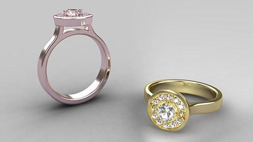 Round Halo Ring