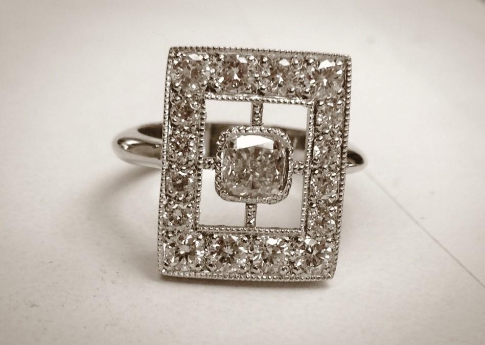 Edwardian Cushion Cut Ring