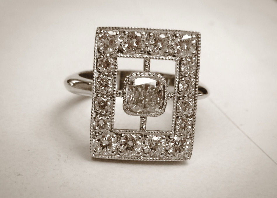 Edwardian Cushion Cut Ring