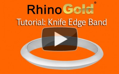 How do I make a Knife Edge Band in RhinoGold?