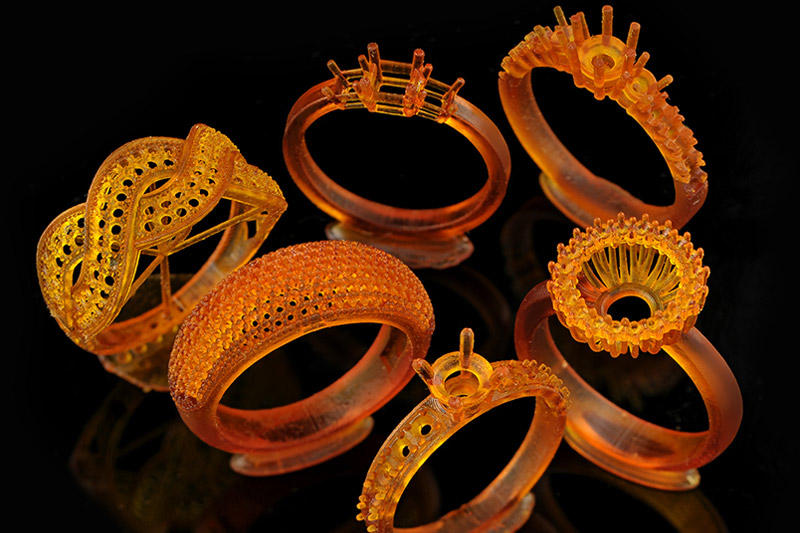 Bubble Ring -Mmba Multi Stone Ring - Mariblueruby Solitaire Ring - Monger Designs - Solus DLP 3d printer