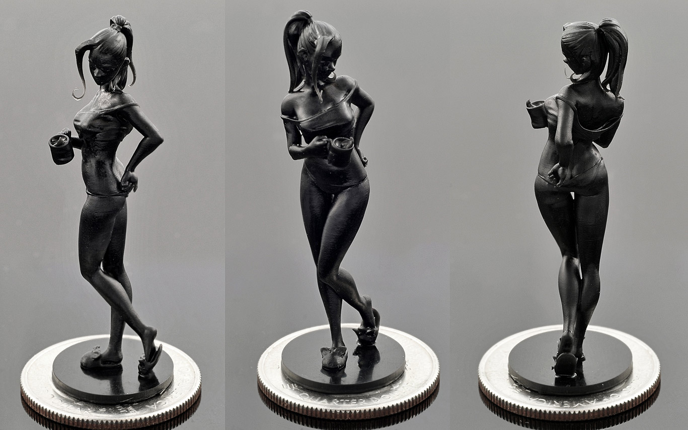 Coffee Girl - model by Scythe - Solus DLP 3d Printer